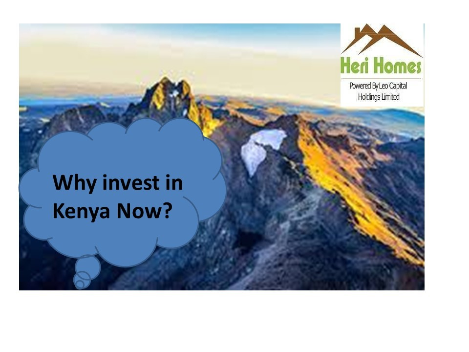 Why should you invest in Kenya now?